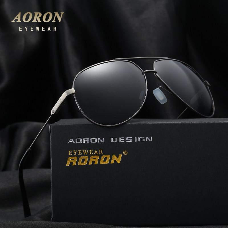 AORON Brand Designer Retro Polarized Sunglasses Coating Mirrored Vintage Sol Eyeglasses Eyewear Accessories Sun Glasses For A331  Aoronbrand- upcube