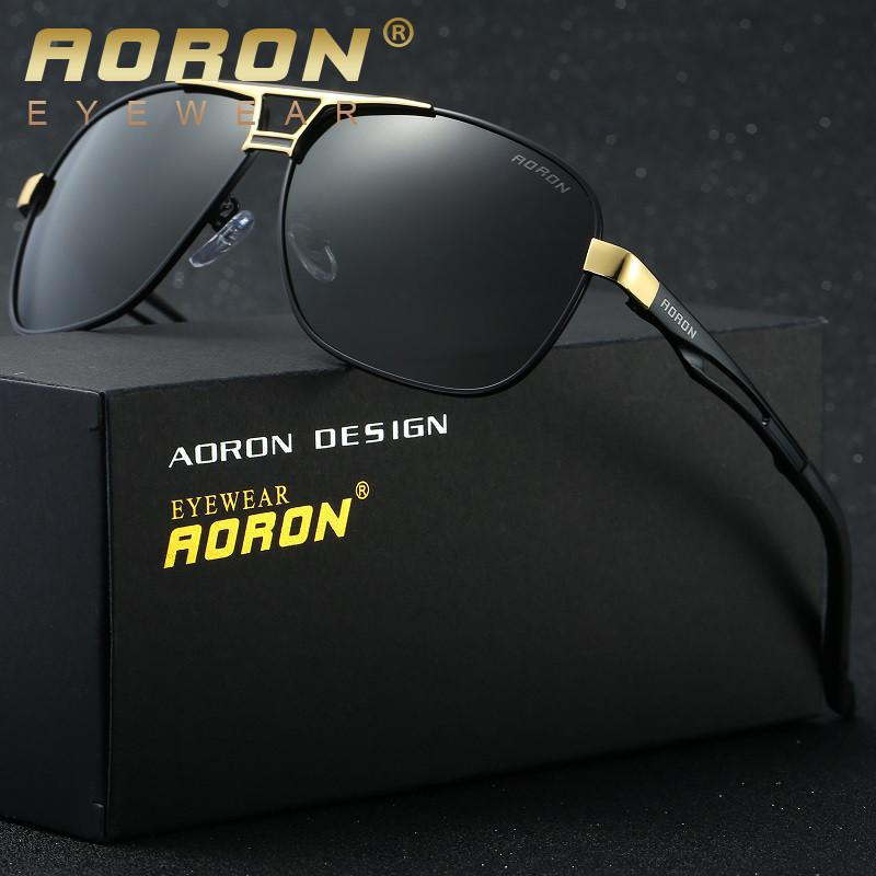 AORON Luxury Brand LOGO Original Box Polarized Sunglasses Mens Goggles Women Designer Leisure Glasses oculos de sol Eyewear 8521 Sunglasses Aoronbrand- upcube