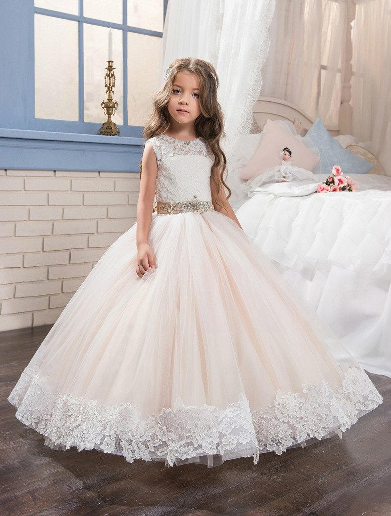 Abaowedding champagne graduation gowns children pageant ball gown ...