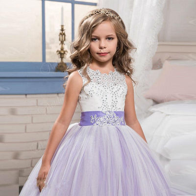 Abaowedding kids graduation gowns children lilac pageant dresses for ...