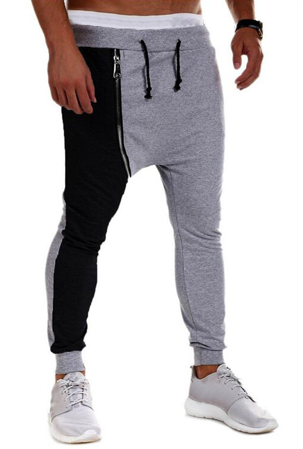 Abetteric Men Thin Underwear Casual Loose Jogger Pants with Strings