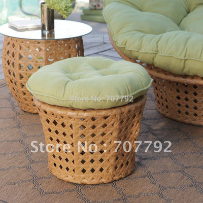 All Weather Wicker Outdoor Papasan Chair Set Upcube