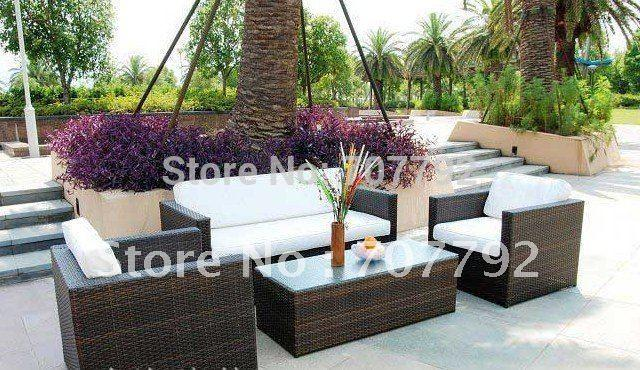Magnificent Aluminium Rattan Garden Sofa Set Theyellowbook Wood Chair Design Ideas Theyellowbookinfo