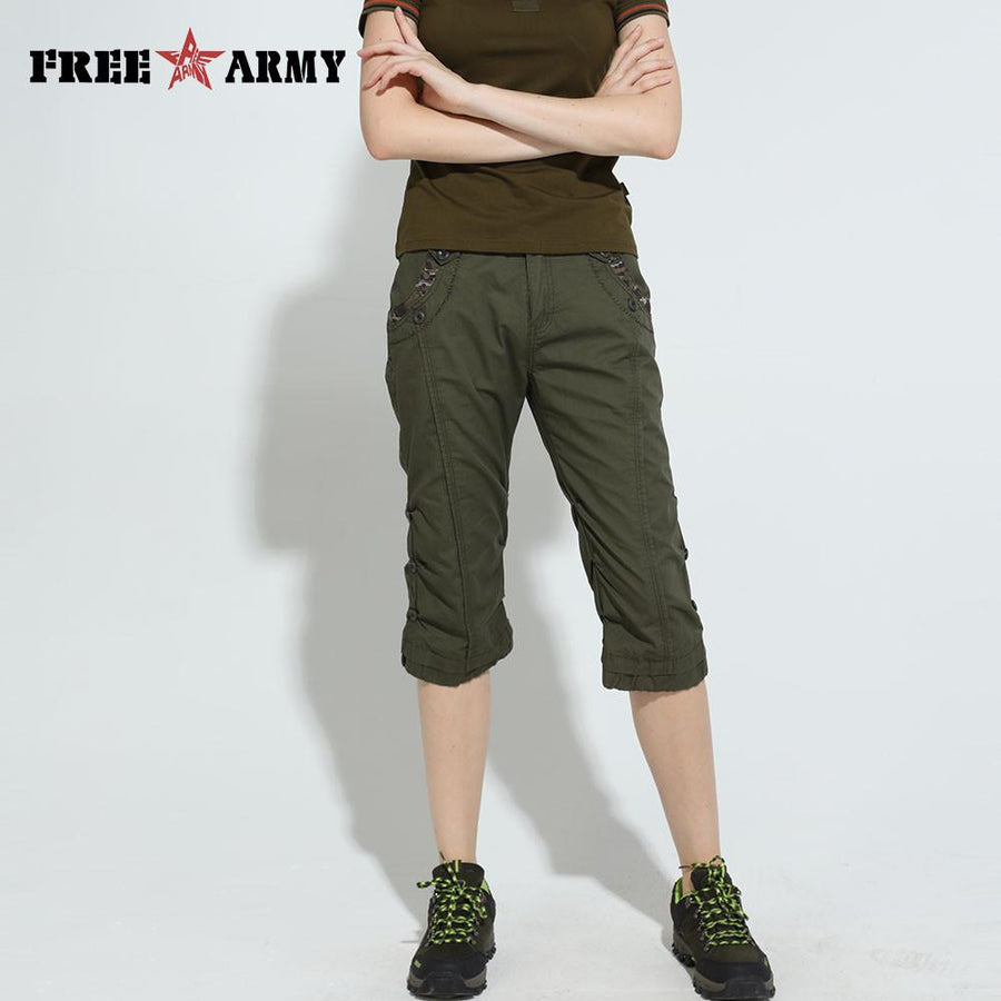 Army Camouflage Slim Shorts Feminino Pantalones Cortos Mujer High Waist Summer Women Joggers Shorts Capris Plus Size Girls