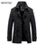 BINYUXD Men Trench Coat Slim Windbreaker Cotton Thicken Fleece Long Coats Casaco Masculino Male  Winter Jacket Mens Overcoat