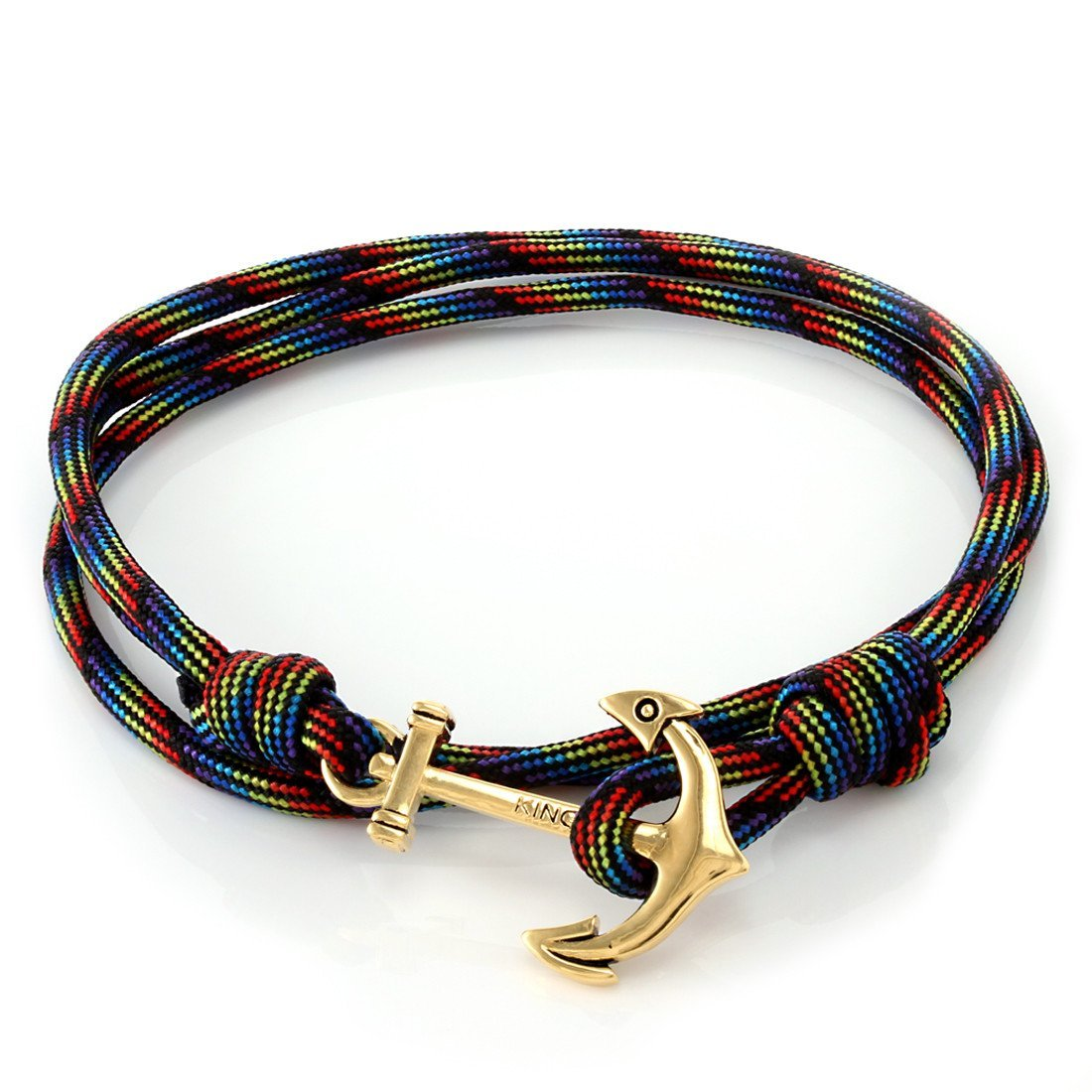 Sale - 14K Gold Anchor Rainbow Wrap Bracelet -   jetcube