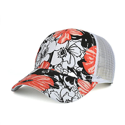 Baseball Caps - (BUILT CLEAR) 2017 ladies outdoor roses printed hat, casquette summer sports shade baseball cap reissue ladies hat snapback caps -   jetcube
