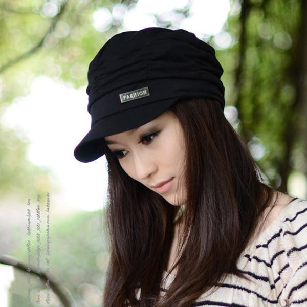 Best Price  Nice Design Women Peaked Cap Slouchy  Girls Pleated Sunhat Baseball Hat Baseball Caps Queen-rr- upcube