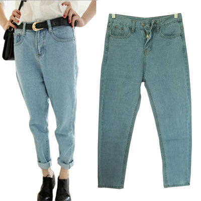 Boyfriend Jeans For Women Loose Denim Pants Women Jeans BF Style Plus Size  Pants Trousers Women s 36131b312a6c