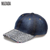 Brands NUZADA Fashion Classic Women Hats Baseball Cap Rhinestone Hip Hop Snapback Caps Popular Luxurious Baseball Caps NUZADA NUZADA Store- upcube