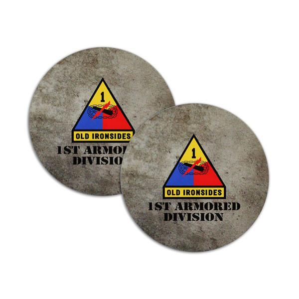 Coasters - 1st Armored Division Coasters - Concrete Texture  jetcube