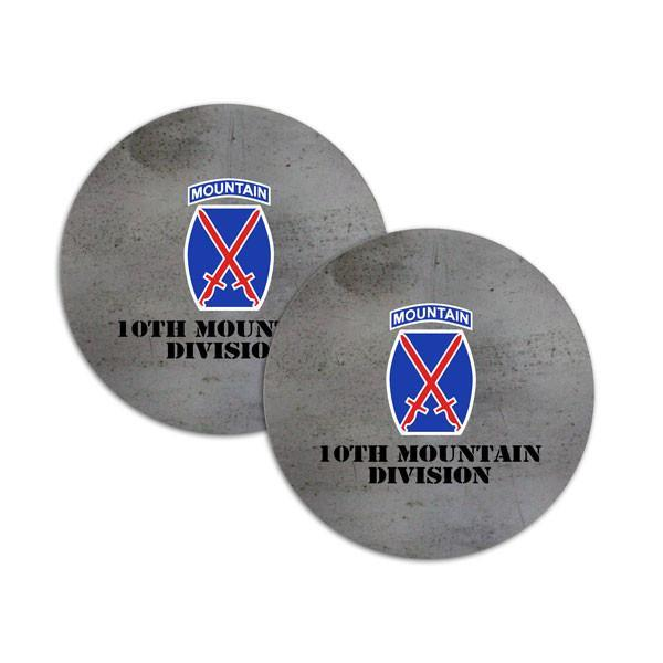 coasters - 10th Mountain Division Coasters - Steel Texture  jetcube