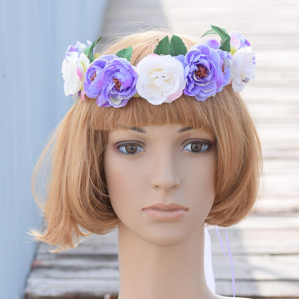 Cxadditions Camellia Rose Flower Crown Leafy Fairy Floral Crown Hair