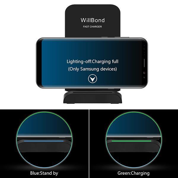Chargers & Cables - 2 Coils QI Wireless Fast Charging for Galaxy S8 Plus S8 S7 for iPhone 8/ 8 Plus/ X -   jetcube
