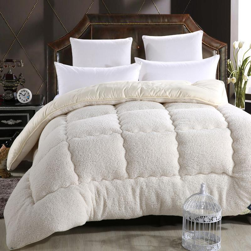 Camelhair warm winter wool quilt thicken comforter/duvet/blanket Lamb Down Fabric filling king queen size single double Cashmere Comforters Shop1291230 Store- upcube