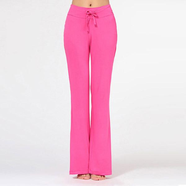 Chic Multicolored Women's Casual Pants Cotton Soft Exercise Loose Full Length Pant