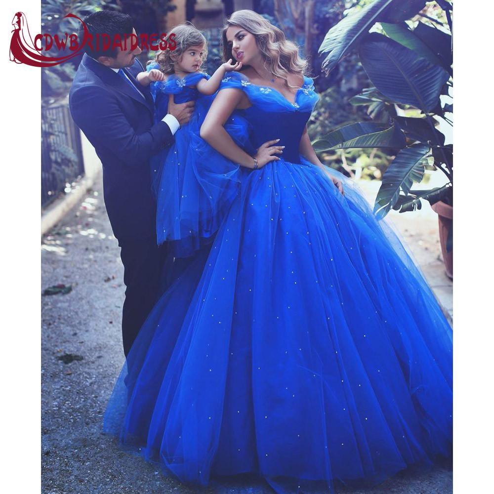 Cinderella Royal Blue Lovely Ball Gown Flower Girl Dresses With ...