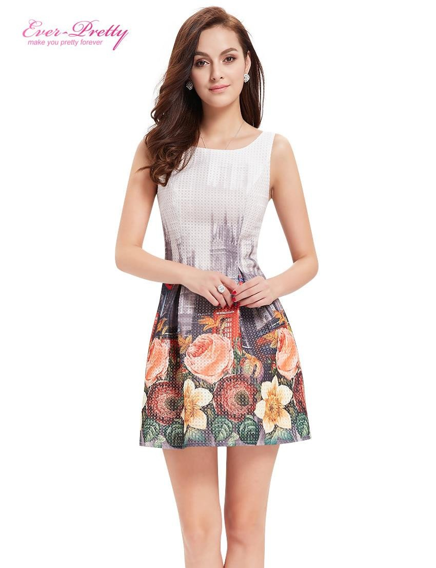 Cocktail Dresses Ap05320wh Ever Pretty Women Sexy Flower Dress Round