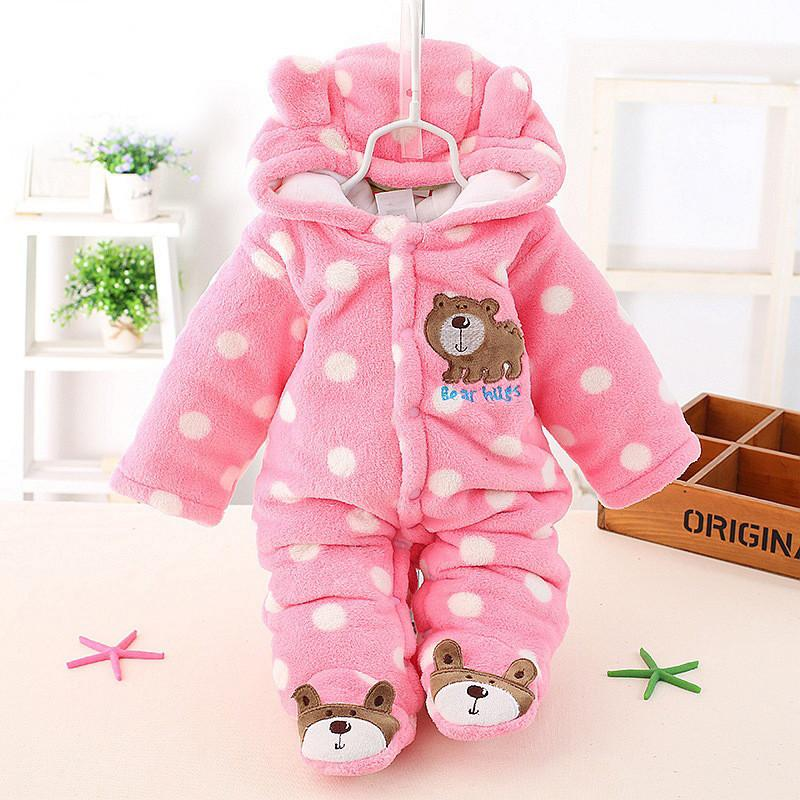ea578185b20e Cute Autumn Winter Cotton Polyester Baby Romper Long Sleeve Coverall ...