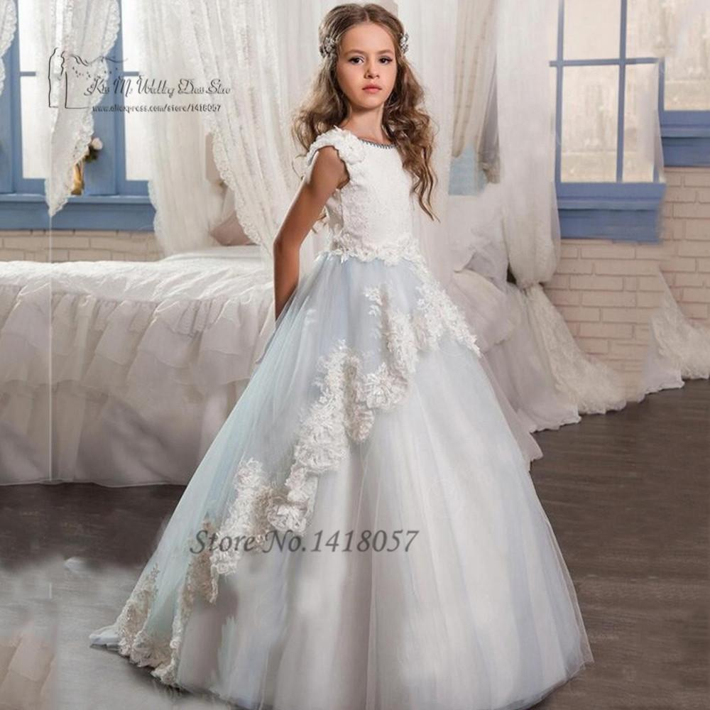 Cute Flower Girl Dresses Long Pageant Dresses for Kids Evening Gowns ...