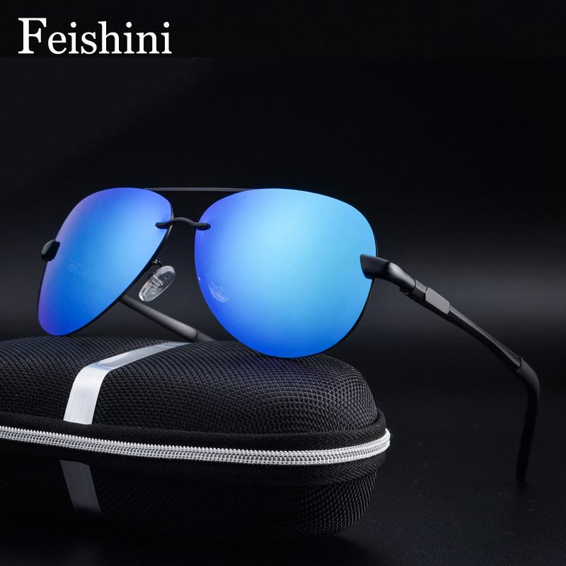 FEISHINI P0761 Brand Designer UV Protection Polaroid Lens FDA Elegant Driving Aviador Man Sunglasses Men Polarized Pilot 2017