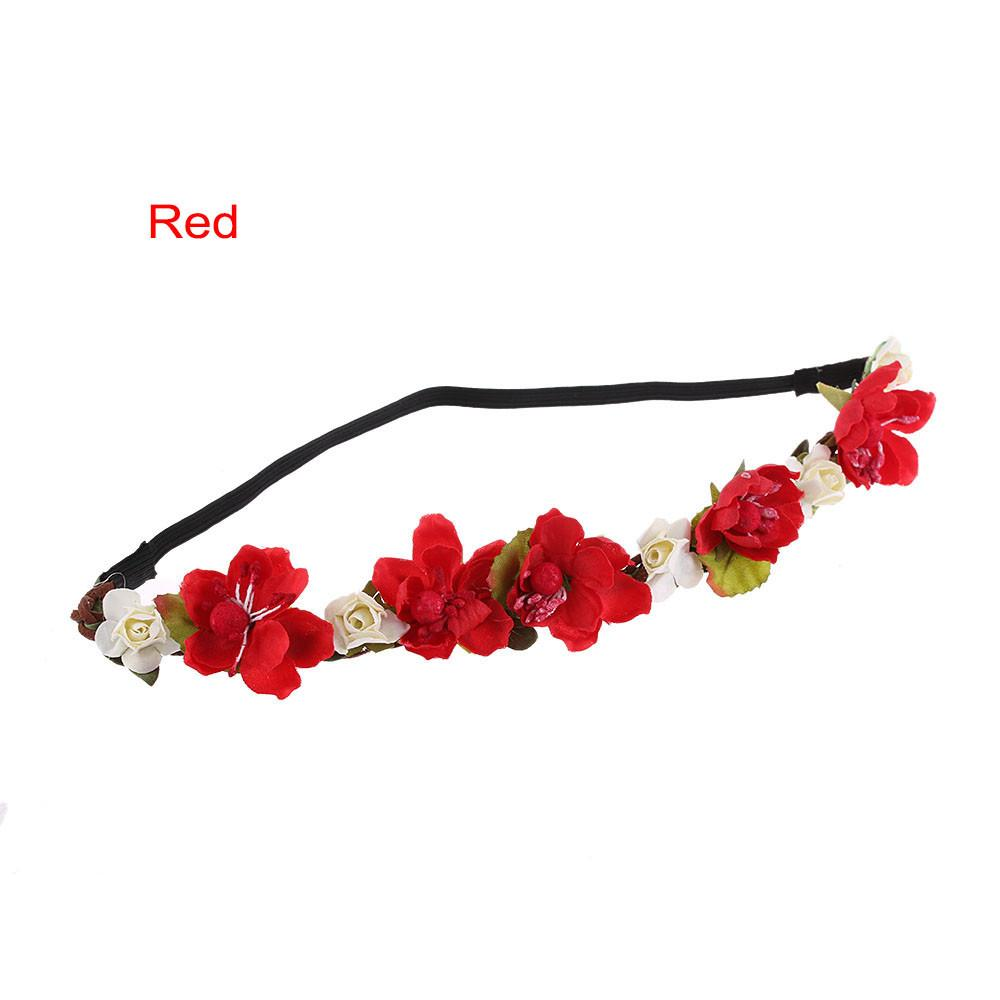 Fashion Female Bohemia Wreath Hairband Handmade Flower Crown