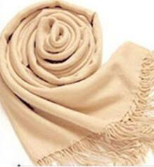Fashionable Colorful Women Fashion Wrap Scarf Long Shawl Soft Scarves Tassels Wool Blend