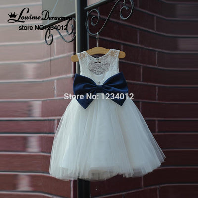 First communion dresses rustic lace navy blue sashbow flower girl first communion dresses rustic lace navy blue sashbow flower girl dress white country toddler mightylinksfo