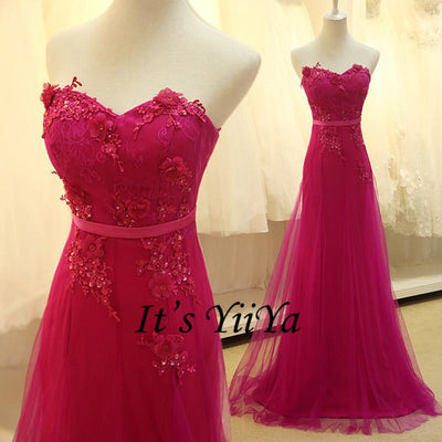 Free Shipping 2016 Hot Pink Strapless Romantic Formal Dresses Gowns ...