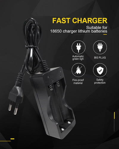 PUJIMAX 18650 battery charger EU 2slots Smart charging  Li-ion Rechargeable Battery charger
