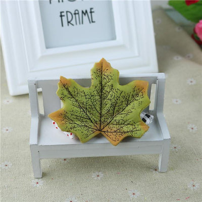 maple - 100Pcs Artificial Silk Maple Leaves for Home Wedding Party Decoration Scrapbooking Craft Photo Prop - 4  jetcube