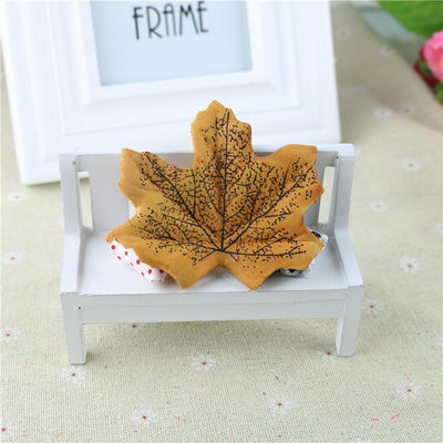 maple - 100Pcs Artificial Silk Maple Leaves for Home Wedding Party Decoration Scrapbooking Craft Photo Prop - 5  jetcube