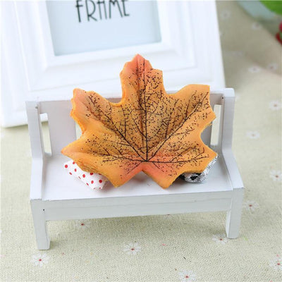 maple - 100Pcs Artificial Silk Maple Leaves for Home Wedding Party Decoration Scrapbooking Craft Photo Prop - 6  jetcube