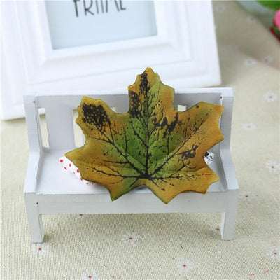 maple - 100Pcs Artificial Silk Maple Leaves for Home Wedding Party Decoration Scrapbooking Craft Photo Prop - 7  jetcube