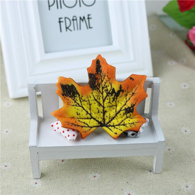 maple - 100Pcs Artificial Silk Maple Leaves for Home Wedding Party Decoration Scrapbooking Craft Photo Prop - 8  jetcube