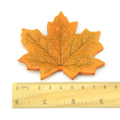 maple - 100Pcs Artificial Silk Maple Leaves for Home Wedding Party Decoration Scrapbooking Craft Photo Prop -   jetcube