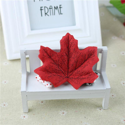maple - 100Pcs Artificial Silk Maple Leaves for Home Wedding Party Decoration Scrapbooking Craft Photo Prop - 1  jetcube