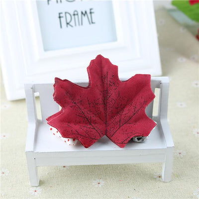 maple - 100Pcs Artificial Silk Maple Leaves for Home Wedding Party Decoration Scrapbooking Craft Photo Prop - 2  jetcube