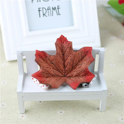 maple - 100Pcs Artificial Silk Maple Leaves for Home Wedding Party Decoration Scrapbooking Craft Photo Prop - 3  jetcube
