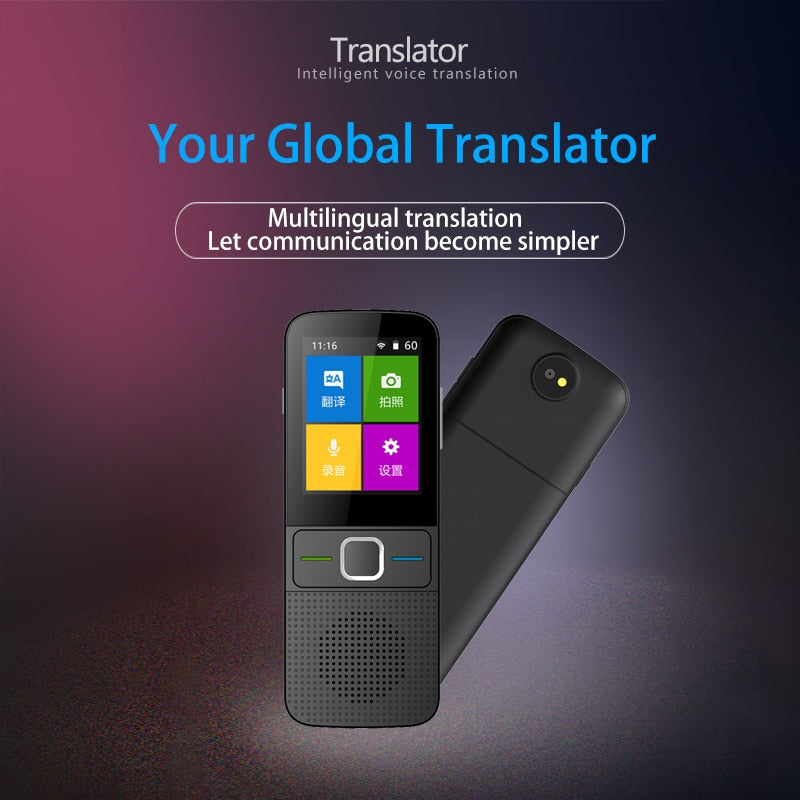 New upgrade 137 Language Offline Translator 2.4inch Touch Screen Portable Instant Voice Translator assistant without internet