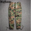 HIPFANDI Hip Hop Factory Connection Mens clothing military tactical cargo Pants Casual Fashion kanye west camouflage  Joggers