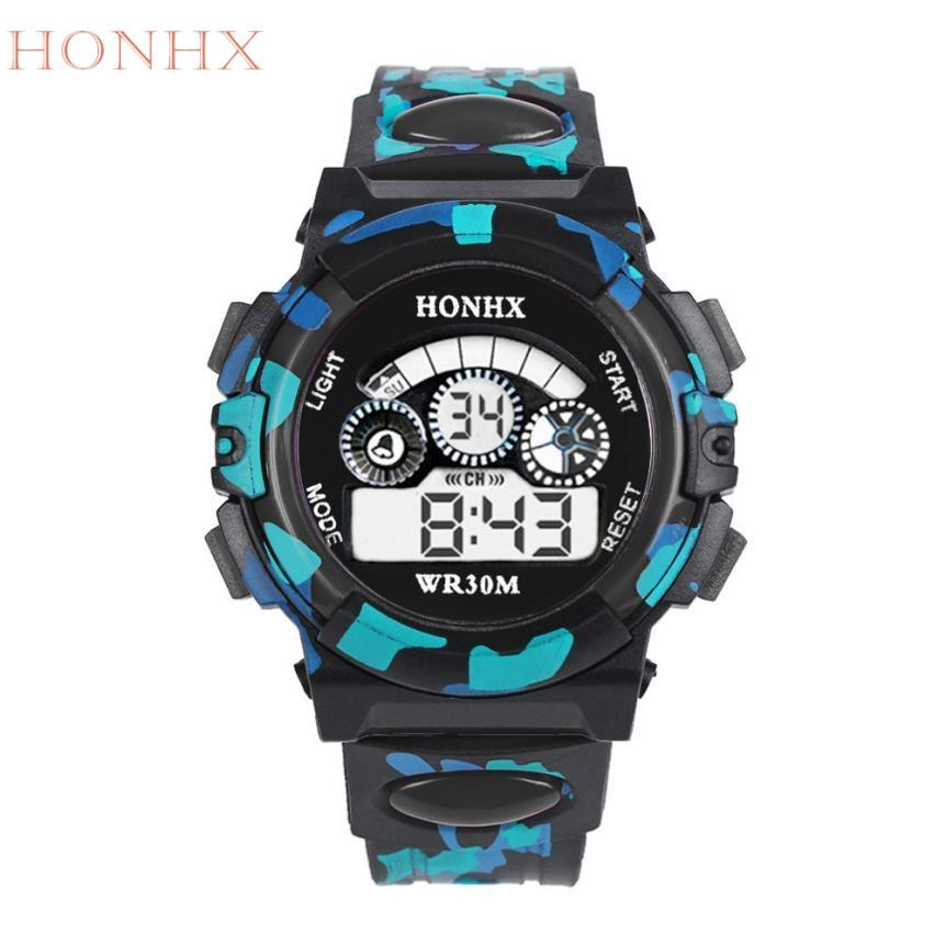 HONHX New Fashion Outdoor Multifunction kid Child/Boy's Sports Electronic Watches Watch Relogio Masculino M5191