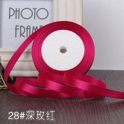 - (22 meters/roll) 10mm Ribbon Satin Ribbons Gift Packing Christmas Ribbons Wedding Party Decorative DIY Crafts supplies Ribbons -   jetcube