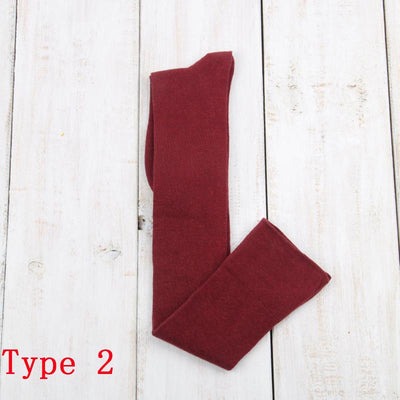 - 10 Solid Colors Long sexy Stockings Female Warm Thigh High Over the Knee Cotton Girls Ladies Women winter - red   type2  jetcube