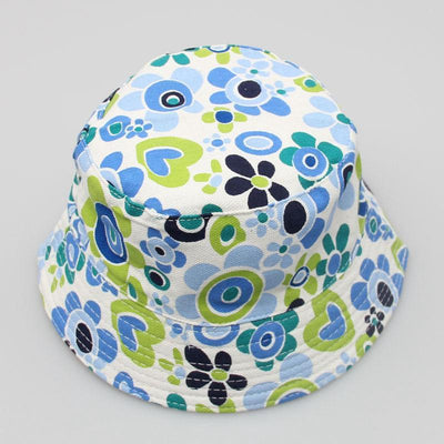- 2-6T Baby Cartoon Print Bucket Sun Hat Floral Children Summer Panama Caps Baby Girls Fisherman Straw Hat Kids Boys Topee cap - 3  jetcube