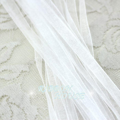 - (20 meters/lot) 1/4''(6mm) White organza ribbons wholesale gift wrapping Christmas ribbons -   jetcube