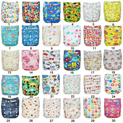 - (10pcs A Lot) BIG DISCOUNT 2017 New year Bamboo Charcoal Cloth Diapers Shells Pocket Diaper Covers -   jetcube