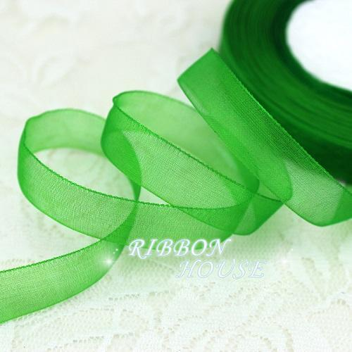 - (50 yards/roll) 1/2''(12mm) organza ribbons wholesale gift wrapping decoration Christmas ribbons - Green  jetcube