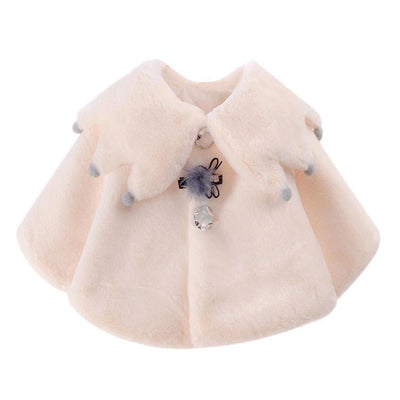 2017 girls winter coat Autumn Winter Coat Cloak Jacket Button Up Collar Thick Warm Clothes Sep 13  UpCube- upcube