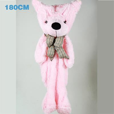 - 180cm Teddy Bear Skins Plush Soft Toy Dolls Giant empty Bear animal skins shell for kids Cute Peluche Animal Stuffed Toys Gifts - pink  jetcube